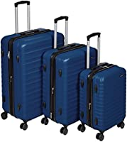 AmazonBasics Set of 3 (55 cm + 68 cm + 78 cm) Navy Blue Hardsided Trolley