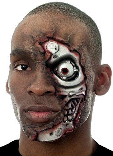 Damen Herren Halloween Blutige Zombie Spezialeffekte Latex Make-Up Kostüm Kleid Outfit Satz - Terminator, One Size, Einheitsgröße