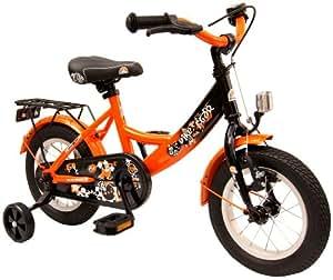 bike*star 30.5cm (12 Zoll) Kinder-Fahrrad - Farbe Schwarz & Orange