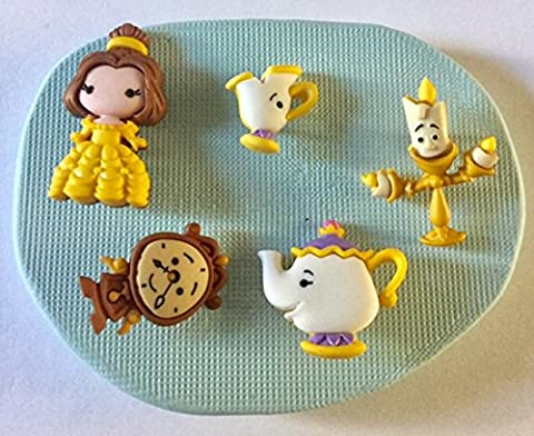 Disney Beauty and the Beast silicone moulds/mould / mold.characters.topper.cupcake.moana .maui.