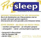 Hanskruchen 975.83.003   PRO SLEEP – 4 Jahreszeitendecke – 155x220cm – 90% Daune/10% Federchen – 1.000 gr. – Made in Germany
