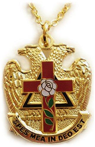 scottish-rite-rose-croix-cross-32-degree-masonic-masonry-freemason-pendant-necklace-w-chain-by-mason
