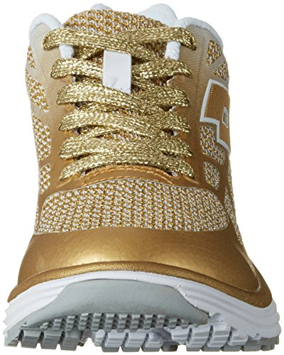 Lotto Sport Fox Ride Ii Amf W, Sneakers Basses Femme Or (Gld Str/wht)