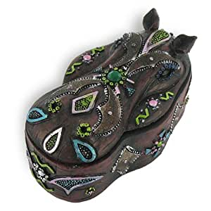 Boite forme hippopotame decoration afrique for Objet decoration hippopotame