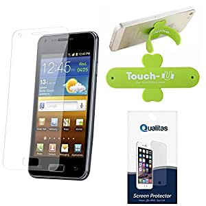 Qualitas Pack of 5 Matte Screen Protector for Micromax Canvas 2.2 A114 + Touch U Mobile Stand