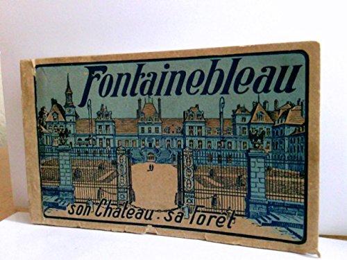 Konvolut 18 AK im Block : Fontainebleau son Chateau sa Foret.18 farbige Karten im Block, perforiert zum heraustrennen. Ansichten rund um Fontainebleau, Frankreich Block Chateau
