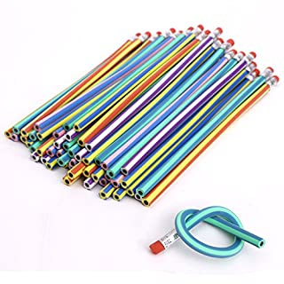 Nice Style Soft Flexible Bendy Pencils Magic Bend Kids School Fun Equipment - 25 PCS