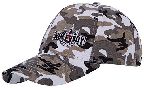 6-panel-garment Washed Twill (Original Rudeboy Stylee Snapback Baseball Cap Ice Camo mit Stick-Logo für Herren und Jungen)