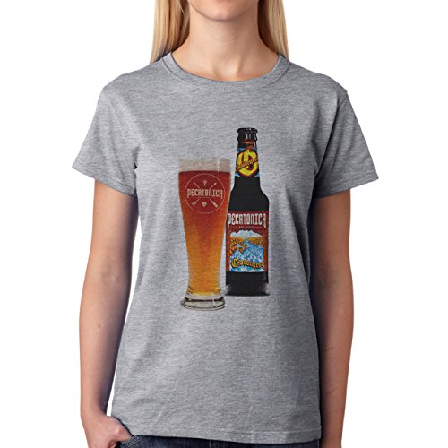 Beer Drink Oktoberfest Glass Dark Pint Golden Lager Damen T-Shirt Grau