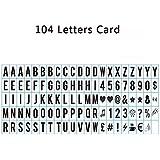 Aoxun 104 Lettres Light Box Noires LED Lettres Acryliques Numéros et Symboles pour Lightbox A4 Taille 35*65mm