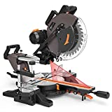 TACKLIFE Sliding Compound Mitre Saw 12-Inch, 1700W, 3800rpm, Double-Bevel Cut (-45°-0°-45°) with Laser Guide