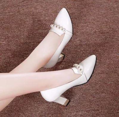 GTVERNH Primavera Zapatos De Mujer Zapatos Superficial Boca Collar Puntiagudas De 6 Cm De Tacon Alto. Treinta...