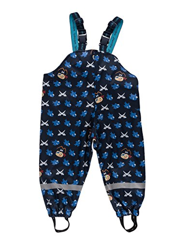 maximo Jungen Regenhose Sharky, Gr. 98, Blau (navy/aquamarine 1156)