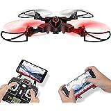 LiDi RC Drone plegable con cámara HD FPV WiFi DoDoeleph Syma X56W Control UAV RTF RC Quadcopter con Altitude Hold Headless Funciones en modo 3D Flips helicóptero de control remoto
