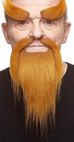 Shaolinmönchs fälschen, selbstklebend Bart, Schnurrbart und Augenbrauen ()