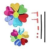 KaiDeng Colorful DIY Pailletten Windmühle Wind Spinner Home Garden Yard Dekoration Kinder Spielzeug