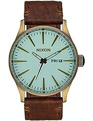 Nixon Herren-Armbanduhr Sentry Analog Quarz Leder A1052223-00