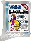 Stupidly Useful Heavy Duty Value 10 Pack Medium Vacuum Storage Bags - 10x Pack - Platinum 110 Micron Range - 70cm x 50cm Medium Size