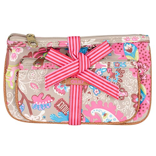 Oilily Flat Cosmetics Bag Package OCB3144 Kosmetiktaschen 2er Set 24x15x1cm
