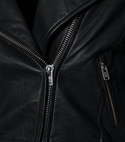 IRO Damen Lederjacke Gipsy Bikerjacke Jacke Leder – Leder – schwarz 01 black 40 - 4