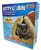 Kitty Cabin 2 in 1 Tunnel Cat Mat and Bed, Large Pet Bed with Self-heating Thermal Core Furniture&Carpets Fur-free Warm House for Cat / Puppy, Plush Pet Accessories