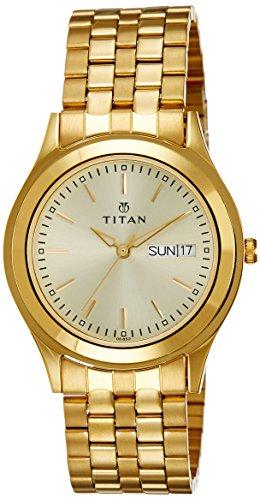 51H7EWURYgL - Titan 1648YM05 Gold Mens