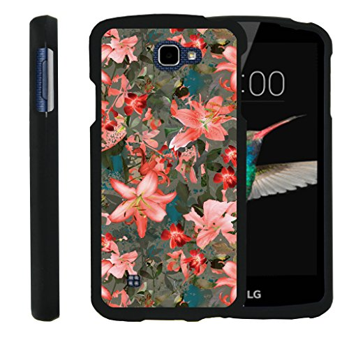 LG K4 Fall | LG Optimus Zone 3 Fall | LG Spree | LG Rebel [Slim Duo] Ultra Slim Matt Hartschale 2-Teiliges Cover Compact Cool Design auf Schwarz von turtlearmor -, Captivating Pink Floral (Lg Optimus Zone 2 Fällen)