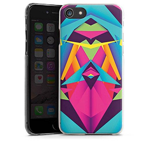 Apple iPhone X Silikon Hülle Case Schutzhülle Friendly Color Dreiecke Muster Hard Case transparent