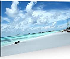 Bild auf Leinwand Relax Strand Malediven 1p XXL Poster Leinwandbild Wandbild