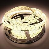 GOESWELL 5M 72W SMD3014 Weihnachtsartikel strips Warmes Weiß 1020Leds IP65 Wasserdicht 3014 LED Streifen Strip Band (Warmes Weiß-IP65)