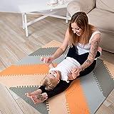 Hakuna Matte Stylische Puzzlematte für Babies und Kinder |+20% Dicker Spielmatte | Schadstofffrei, geruchlos, EN 71 und Formamid TÜV geprüft Spielteppich | 48-teilig, 1,2x1,2m