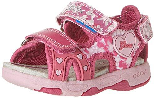 Geox B Sandal Multy Girl Scarpe Walking Baby, Bambina, Rosa (Fuchsia/Pink), 27