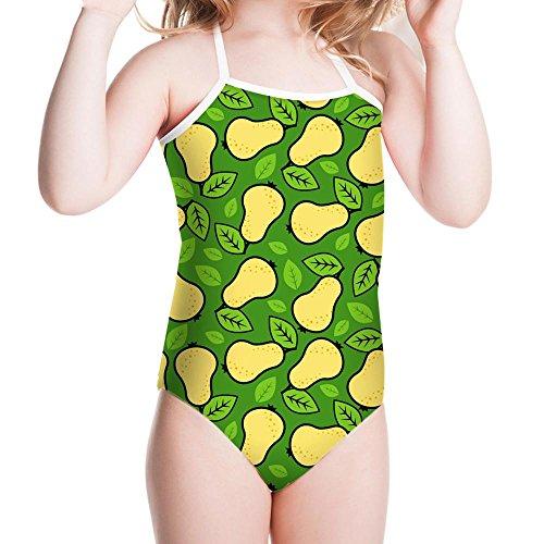 NACHEN Mädchen Badeanzug Kinder Punkt elastische Baby heiße Frühjahr Bademode , green , (Muster Kostüm Einfachheit)