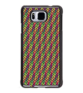 Fuson Arrow Multicolor Chevron Designer Back Case Cover for Samsung Galaxy Alpha :: Samsung Galaxy Alpha S801 :: Samsung Galaxy Alpha G850F G850T G850M G850Fq G850Y G850A G850W G8508S :: Samsung Galaxy Alfa (Ethnic Pattern Patterns Floral Decorative Abstact Love Lovely Beauty)