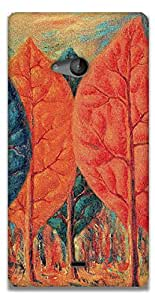 The Racoon Lean The Fire - Magritte hard plastic printed back case / cover for Microsoft Lumia 540