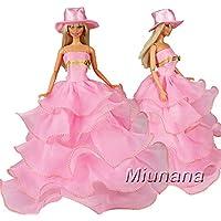 Miunana 1 Vestido de noche Princesa Ropa Vestir Fiesta +1 Sombrero Accesorios como Regalo para