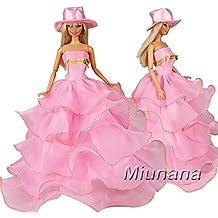 3a20a91e9 Miunana 1 Vestido de noche Princesa Ropa Vestir Fiesta +1 Sombrero  Accesorios como Regalo para