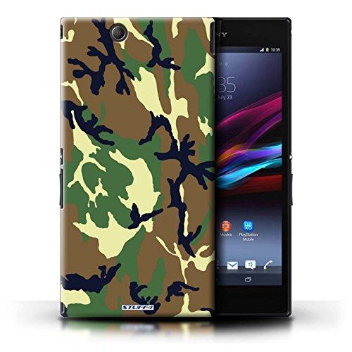 Kobalt® Imprimé Etui / Coque pour Sony Xperia Z Ultra / Rose 4 conception / Série Armée/Camouflage Vert 4