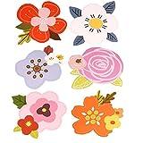 Packung mit 6 schönen Blumen Grußkarten Set mit Umschlägen
