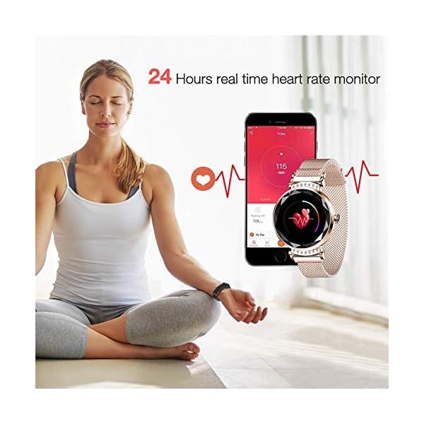 wetwgvsa Fitness Tracker Reloj Pulsera presión Sanguigna pulsómetro de muñeca Actividad Tracker Smartwatch H2 Monitor… 4