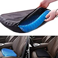 Gluckluz Seat Cushion Cool Gel Memory Egg Sitter Coccyx Ventilated Breathing Pads for Indoor Home Floor Car Office Chair Sciatica Tailbone Pain Relief Wheelchair
