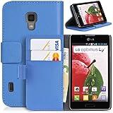 DONZO Wallet Structure Tasche für LG Optimus L7 II P710 Blau