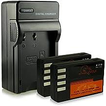 Caricatore + 2x ExtremeWolf Batteria D-Li109 per Pentax K-2| K-S1 | K-S2 | K-30 | K-50 | K-500 | K-r