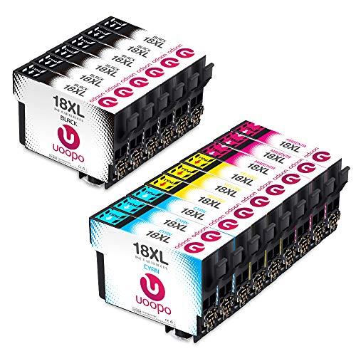 Uoopo 15 Paquete Alta Capacidad Cartuchos tinta Epson