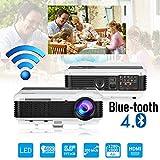 Bluetooth WiFi HD LED Vidéoprojecteur 4500 Lumens Multimédia Android LCD Projecteur...