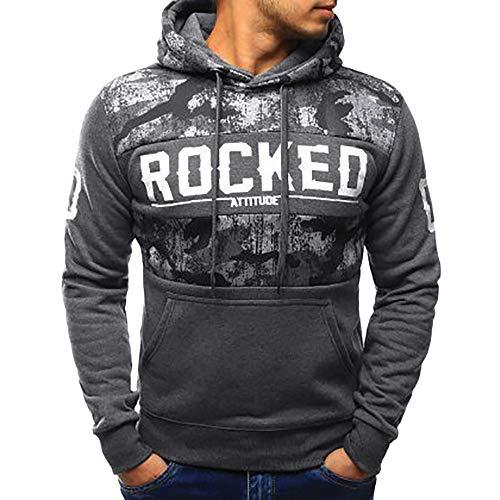 Sweat-Shirt Homme, Manadlian Veste Classique Homme Manteaux Décontracté Trench Coat Zippé Blouson Veste Sport Jacket