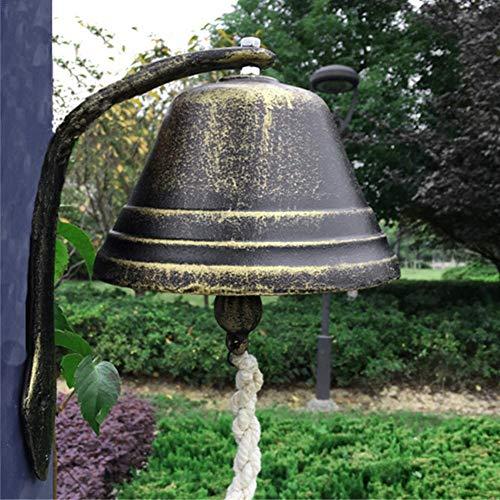 glocke türglocke wandglocke Gusseisen antik brüniert nostalgisch Gartenglocke, Vintage Gusseisen Türklingel Bells Dinner Bells Rassel Dekorationen