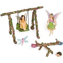 Patio Eden - Jardín de hadas parque infantil conjunto - kit miniatura pintado a mano - accesorios para el jardín