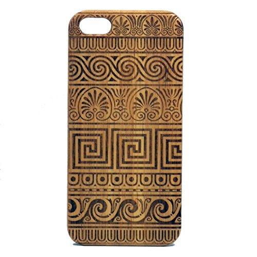 Griechisch Muster iPhone 5, iPhone 5S Oder iPhone SE Bambus Fall. Grecian Bund Schlüssel Design. Meander Linien Tribal Tattoo. Holz Handy deckt imakethecase