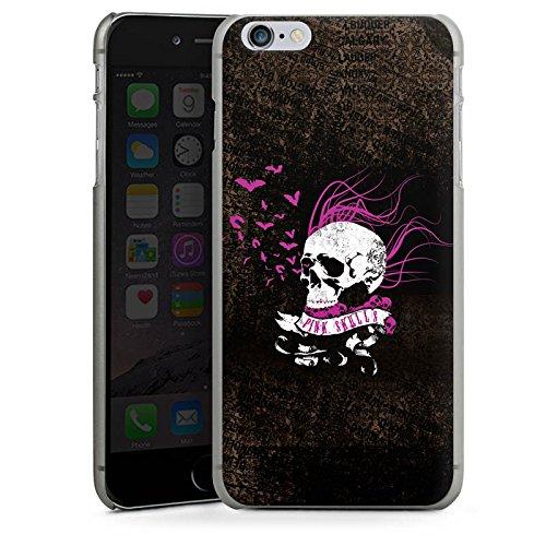 Apple iPhone X Silikon Hülle Case Schutzhülle Totenkopf Schwarz Pink Hard Case anthrazit-klar